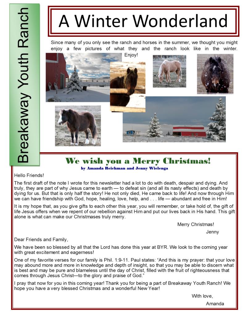 Winter Newsletter 2015